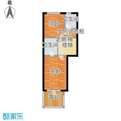 金地・格林小镇6F区F1二层平面图户型