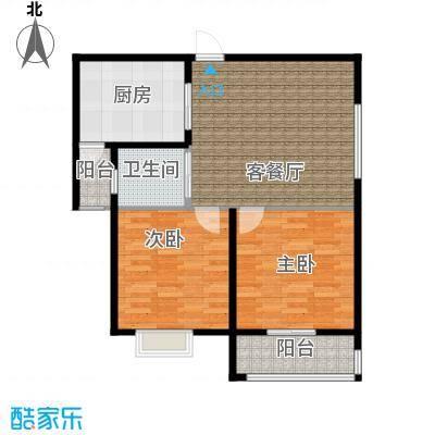 吉东托斯卡纳二室二厅一卫101.85户型2室2厅1卫