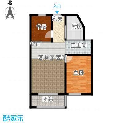 吉东托斯卡纳二室二厅一卫83.02户型2室2厅1卫