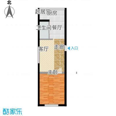 金岸名苑枫景轩金岸名苑-枫景轩一室一厅51--55平户型图户型1室1厅1卫