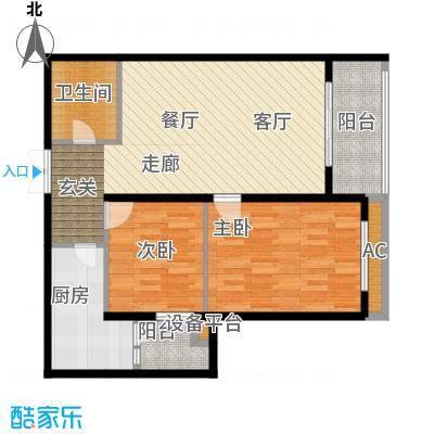 大唐天下江山大唐天下江山两室两厅一卫100.65平户型图户型2室2厅1卫