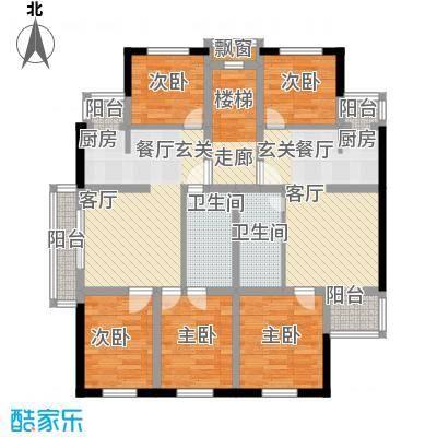 三元新区111.57㎡三室两厅两卫户型