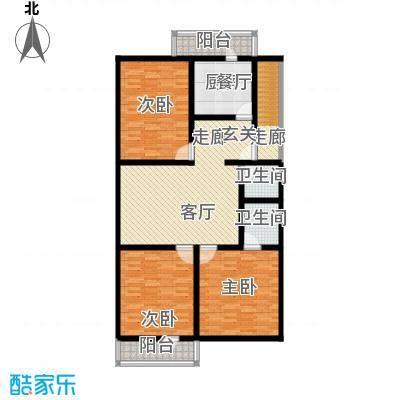 清新家园120.64㎡B户型
