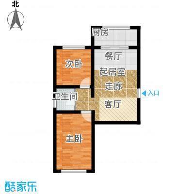 金岸名苑枫景轩金岸名苑-枫景轩两室一厅64--75平户型图户型2室1厅1卫