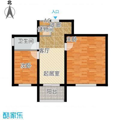 金岸名苑枫景轩金岸名苑-枫景轩两室一厅61--70户型图户型2室1厅1卫