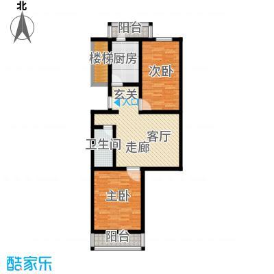 清新家园82.10㎡A1户型