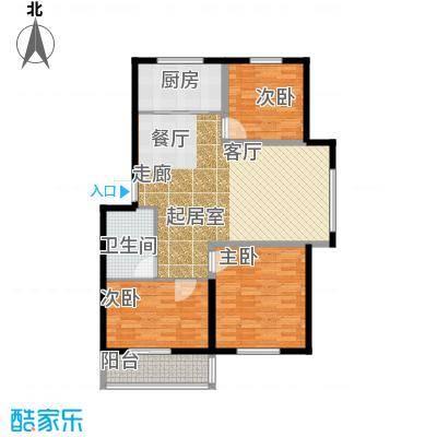 金岸名苑枫景轩金岸名苑-枫景轩三室两厅103--107户型图户型3室2厅1卫