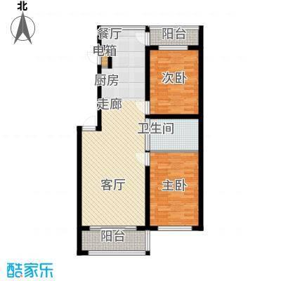 嘉业紫荆花2室2厅1卫1厨99.00㎡户型2室2厅1卫