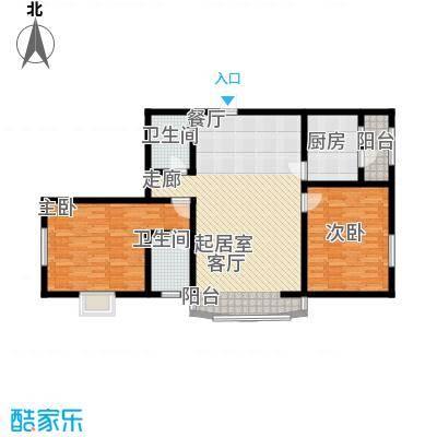 豪隆福顺江山2室2厅2卫1厨104.23㎡户型2室2厅2卫