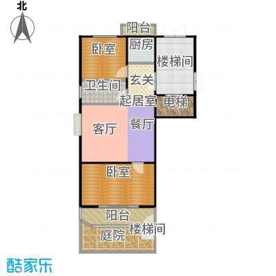 同心嘉园94.30㎡两室一厅一卫户型