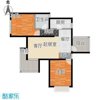 金隅・观澜时代88.00㎡C2户型2室2厅1卫