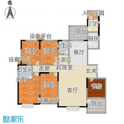 华富世家242.00㎡22号楼9楼六室两厅两卫户型6室2厅2卫