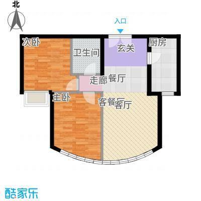 新华联运河湾87.72㎡J-2户型10室