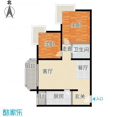 西现代城92.16㎡两室两厅一卫户型LL
