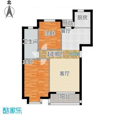 红大领域红大领域两室两厅一厨一卫91平户型图户型2室2厅1卫
