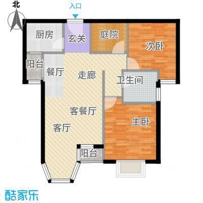 珠江拉维小镇A1户型2室1厅1卫1厨