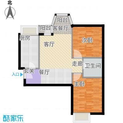 珠江拉维小镇A2户型2室1厅1卫1厨