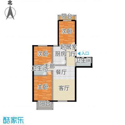 水岸长桥(长安星园)117.60㎡三室二厅二卫户型