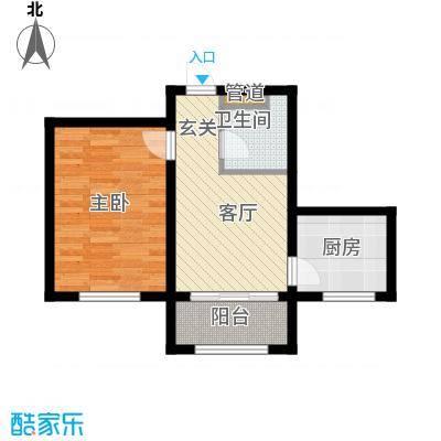 金丰.紫馨花园1室1厅1卫1厨41.00㎡户型1室1厅1卫