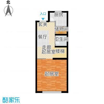 尚东庭72.96㎡A区A3号楼4单元一层户型1卫1厨