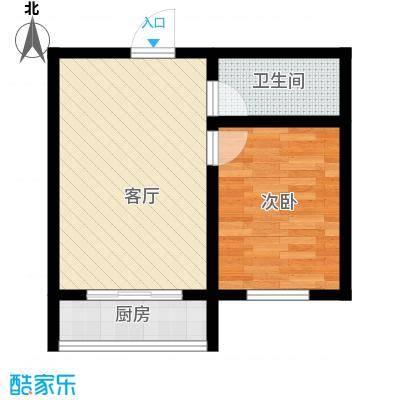 江岸龙苑43.00㎡江岸龙苑E户型一室一厅约43-51平米户型图户型1室1厅1卫