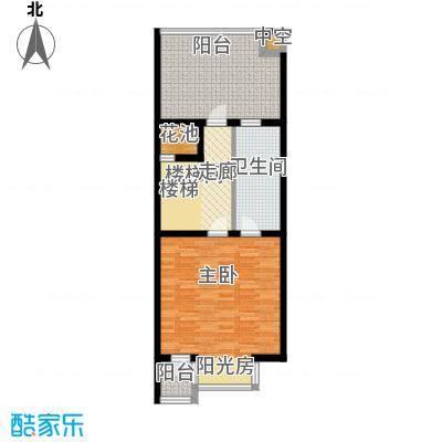 尚东庭69.44㎡B2号楼6单元三层户型1室1卫
