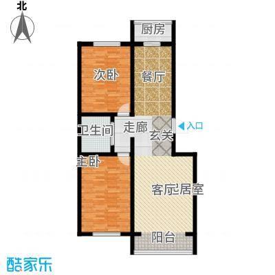 江岸龙苑96.00㎡F户型2室2厅1卫1厨 96.00㎡户型
