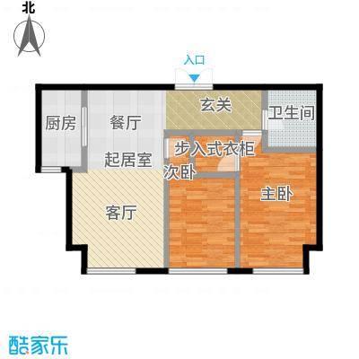 北京城建徜徉集89.00㎡C户型2室1卫1厨