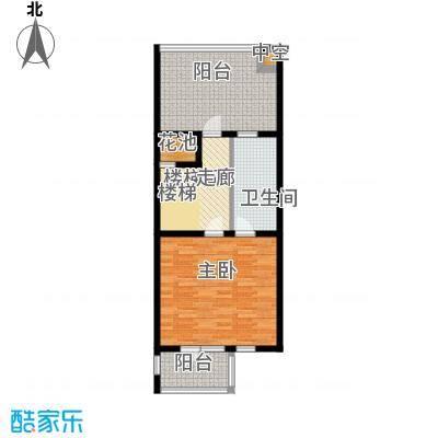 尚东庭69.71㎡A区A2号楼3单元三层户型1室1卫