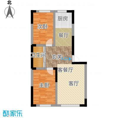 九新雾凇水岸84.76㎡九新雾凇水岸A3户型两室两厅一卫约84.76平米户型图户型2室2厅1卫