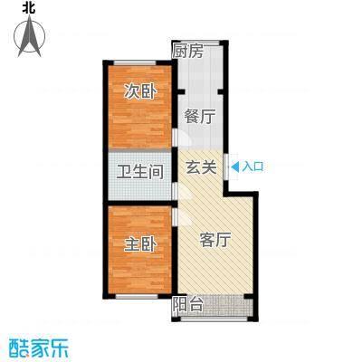 金地卡诗维亚79.91㎡17#A1户型 两室两厅一卫 建筑面积约79.91㎡户型2室2厅1卫