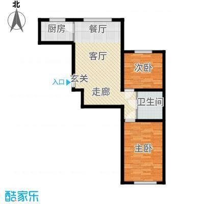 朝阳新苑C户型78.14户型
