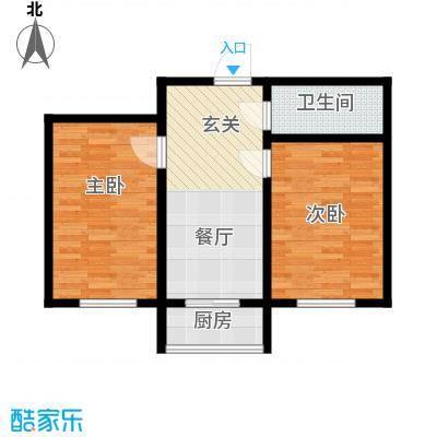 朝阳新苑B户型62平户型
