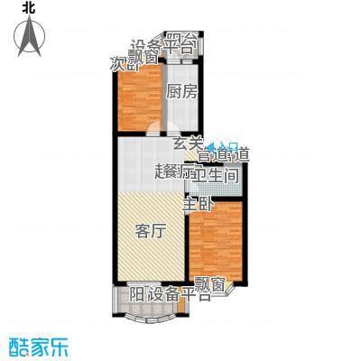 京南嘉园97.94㎡两室两厅一卫户型