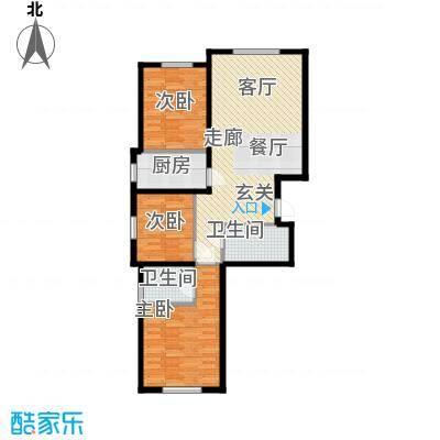 朝阳新苑A户型116.15平户型