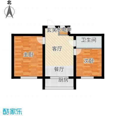 607地质家园E户型建筑面积67.69㎡户型2室1厅1卫