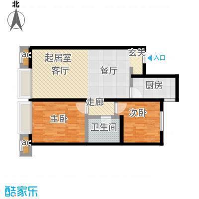 万科城89.00㎡C3两室两厅一卫89㎡户型2室2厅1卫