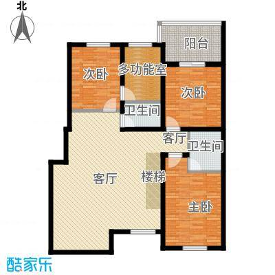 盈胜毓园盈胜毓园花园跃层二层四室一厅两卫237㎡户型图户型4室1厅2卫
