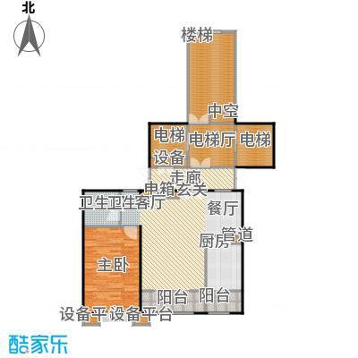 都市节奏73.75㎡22号楼一单元中一室两厅一卫户型