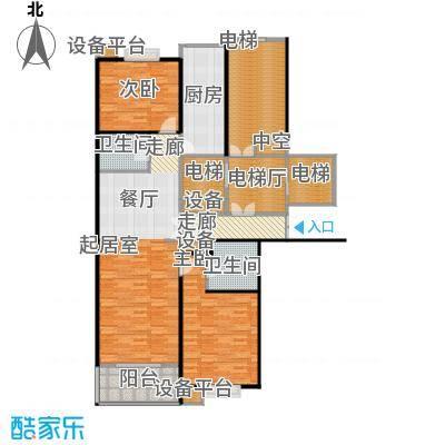 都市节奏118.84㎡3号楼五单元西两室两厅两卫户型