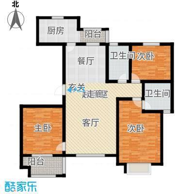紫薇壹㎡137.45㎡E2户型 三室两厅两卫 137.45㎡户型3室2厅2卫