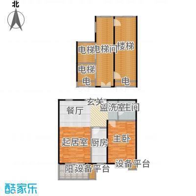 都市节奏80.79㎡3号楼八单元中一室两厅一卫户型