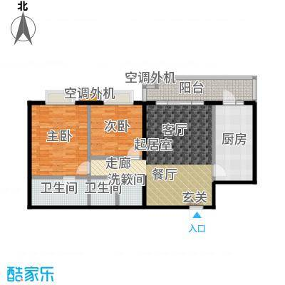 天通・公园里113.86㎡天通・公园里113.86㎡2室2厅2卫户型2室2厅2卫