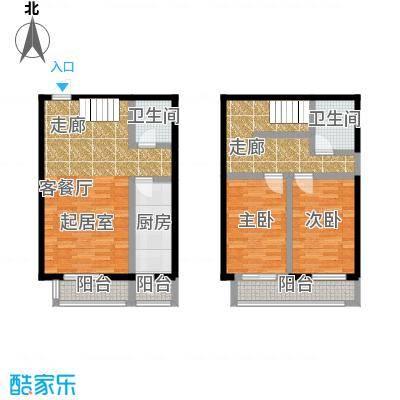 矩阵・天悦90.71㎡19号楼2单元两室户型10室