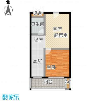 世纪龙鼎62.93㎡1室1厅1卫1厨户型