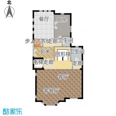 京基・鹭府520.00㎡A1双拼别墅一层户型2厅2卫1厨