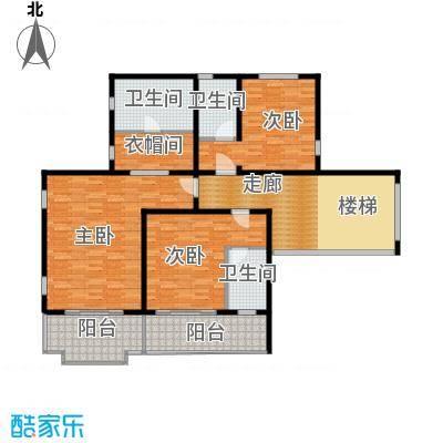 珠江紫宸山144.46㎡K07三层户型10室