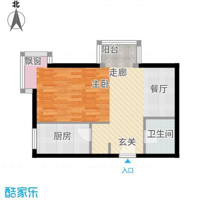 书香名邸49.78㎡11#标准层D一室一卫户型