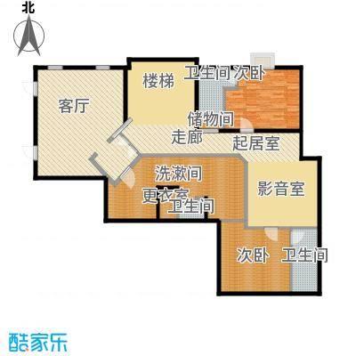 珠江紫宸山154.19㎡C3二层户型10室