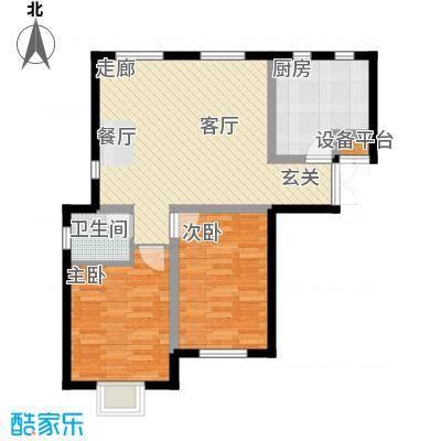 书香名邸四期善缘紫檀4号楼一单元首层E两室两厅一卫户型